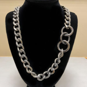Aluminum Chain with Gun Metal Necklace