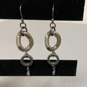 "2"" Gunmetal  Earrings"